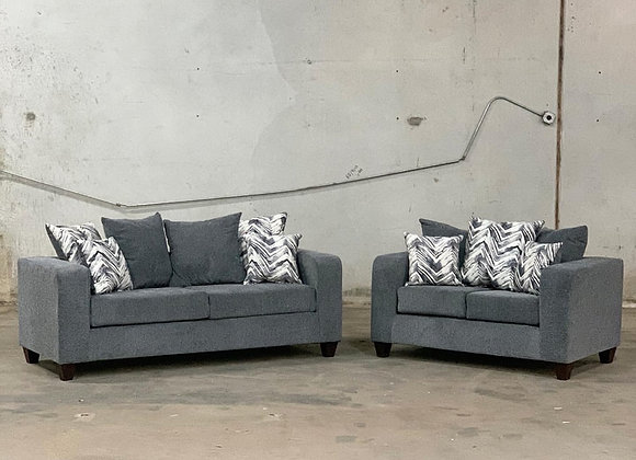 Charcoal Sofa/Loveseat Set