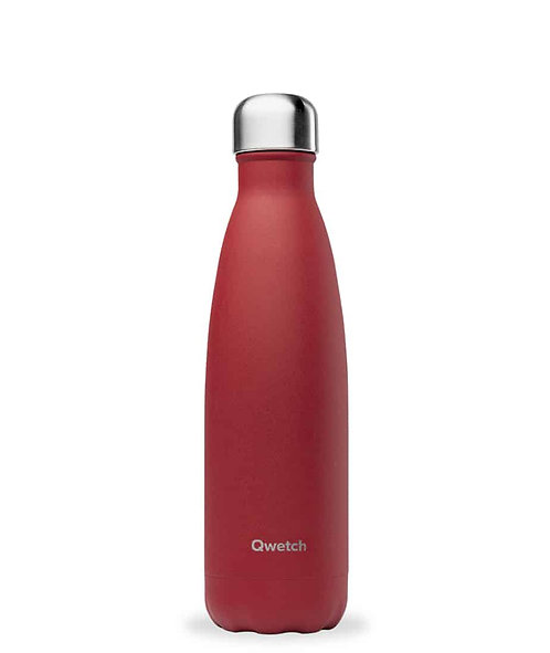 Bouteille Isotherme Qwetch Granite Rouge 500 mL