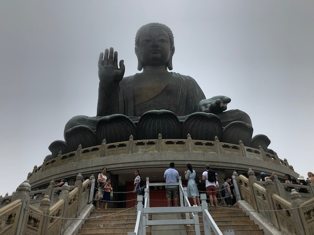 A very large Buddha stature in Hong Kong