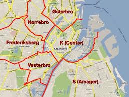 District map of Copenhagen