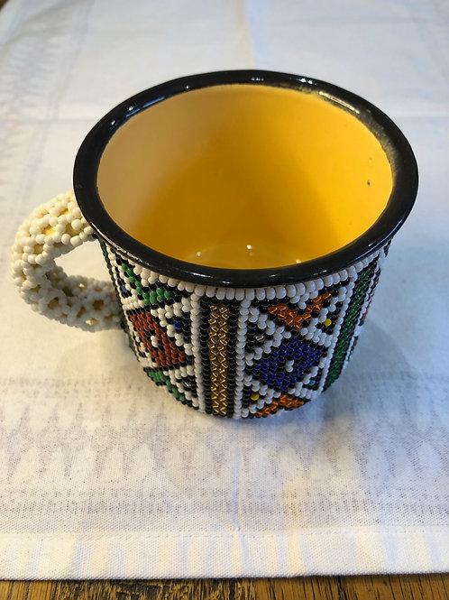 South African Beaded Mug