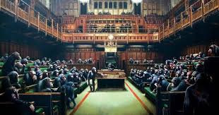 'devolved parliament' banksy