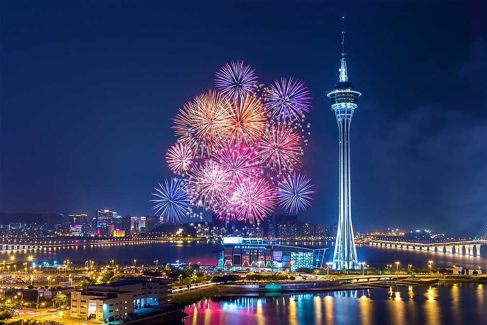 fireworks over macau