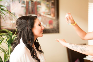 Makeup: Courtney McCormick Hair:  Nicole Nadeau - The Brushing Bride Photography:  Hannah Mink Photography
