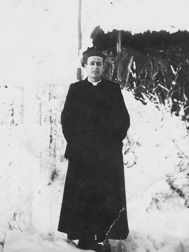Padre Luis no Seminário - Itália