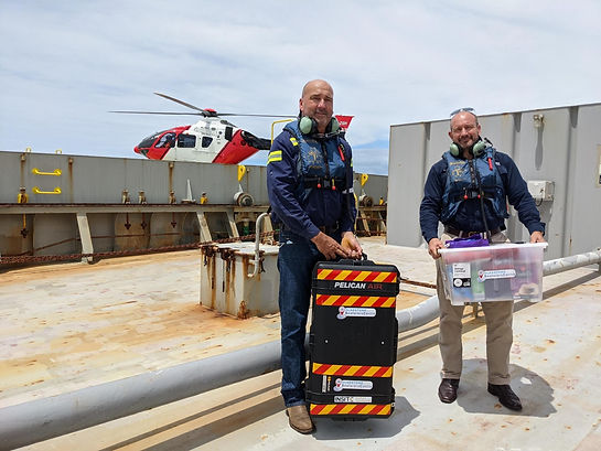 GPC Acting CEO Craig Walker and Maritime Safety Queensland General Manager Angus Mitchell