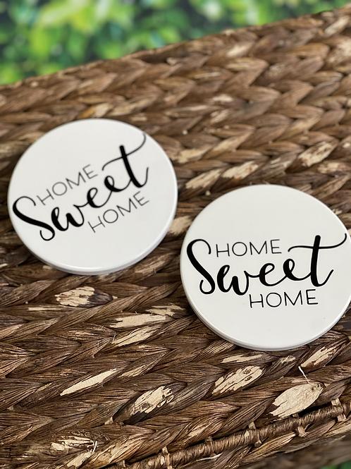 Home Sweet Home Ceramic Coasters - Set of 2