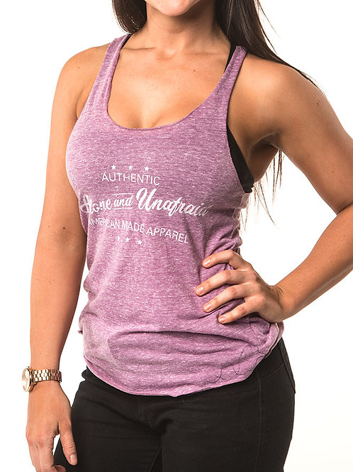 Authentic Wear Women's Tri-Blend Raw Edge Tank