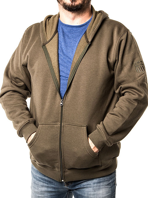 Authentic Wear Classic Zip-Up Hoodie Sweatshirt