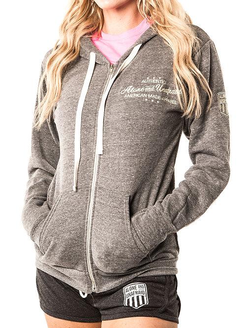 Authentic Wear Tri-Blend Zip-Up Hoodie