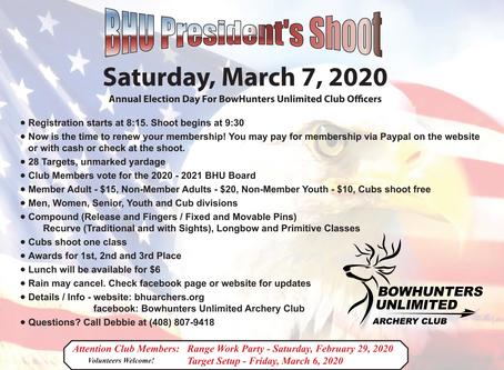 President's Shoot –07 Mar 2020