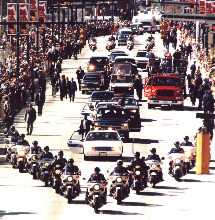 John Paul II Motorcade and Parade