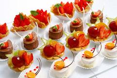 Verschiedene Dessert Tray