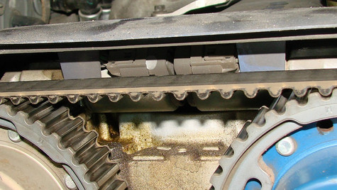 Step 1 - Align the camshaft sprockets. Click to enlarge photo.