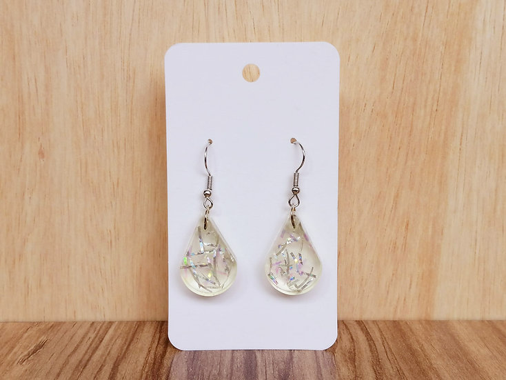 Raindrop Resin Earrings