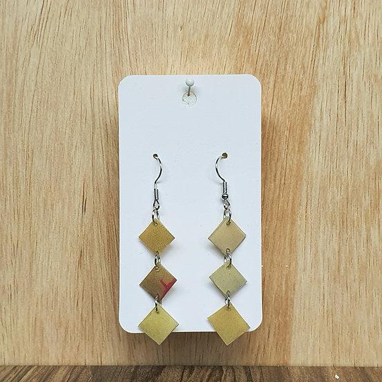 Mosaic Links Earrings - Yellow