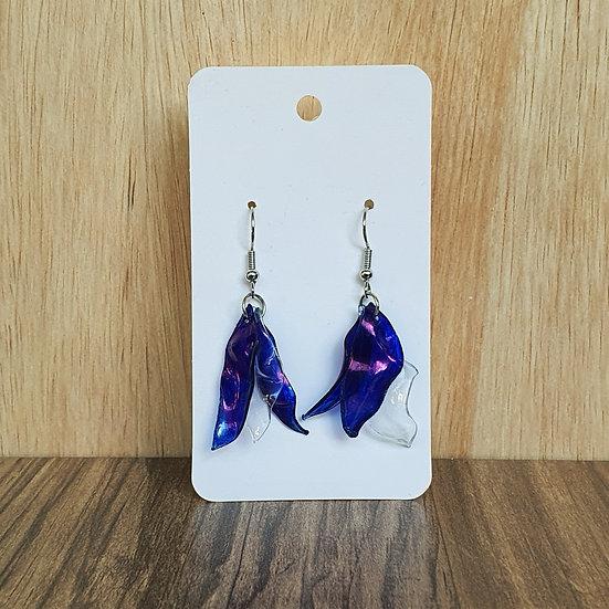 Eco Petals Earrings - Blue