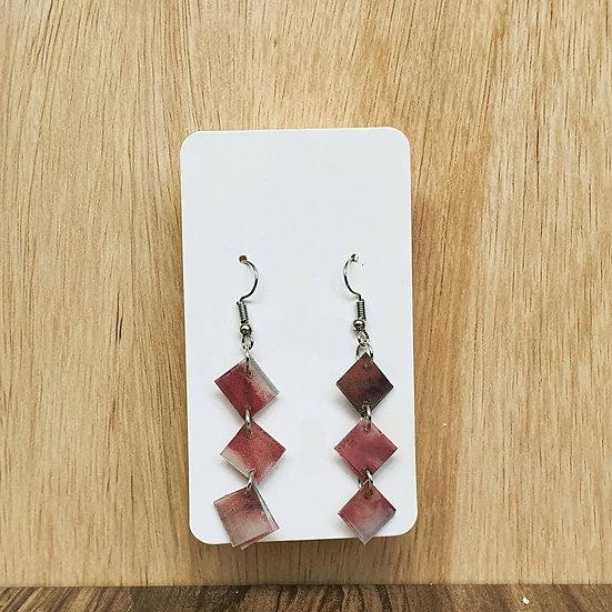 Mosaic Links Earrings - Pink