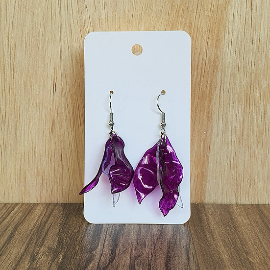 Eco Petals Earring - Purple