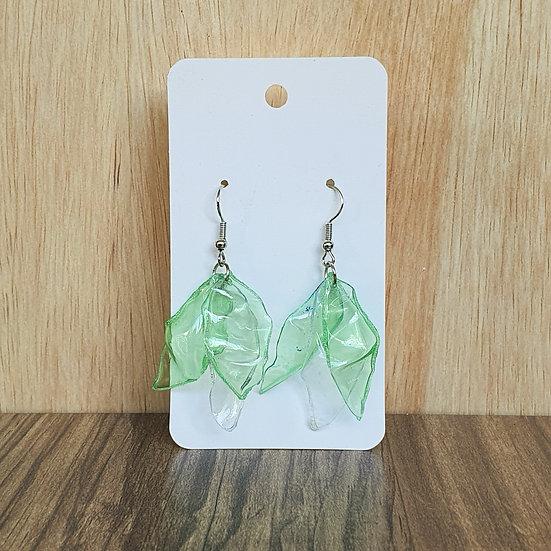 Eco Petals Earrings - Green