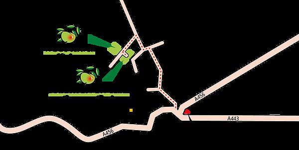 Woodseaves and Knighton on Teme Caravan Park Location Map