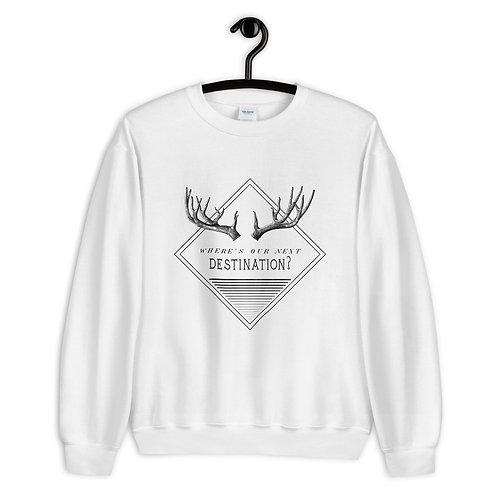 """Sweatshirt """"Next Destination"""" weiß"""