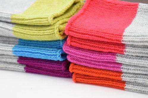 Colour Block Wristwarmers