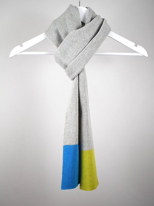 Colour Block Scarf Grey