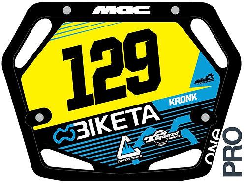 Biketa Race Plate