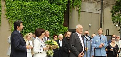 Réva a pan Klaus při poděkování