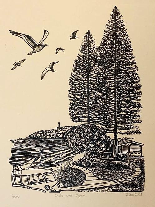 Gulls over Byron