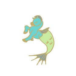 Baby Pegasus Hippocampus #enamelpin idea! 💜 #MerMay #MerMay2017 #pegasushippocampus_..._Pegasus des