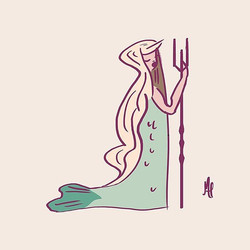 Design three of three.  My favorite one!  Visit profile tomorrow to see all three together.  #MerMay