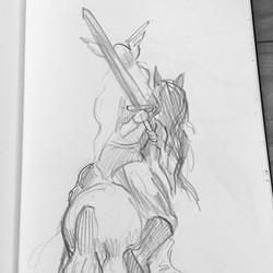 Viking costumed life drawing with _centerstagegallery #vikings #CTNsketchFEVER_._._._._._._._