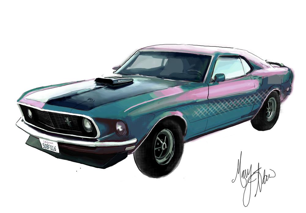 Mustang Digital Painting