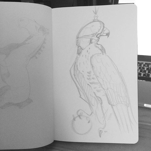 Sketch prep (keeping it loose & gestural) ready for inking!  #inktober #inktober2016 -- posting so l
