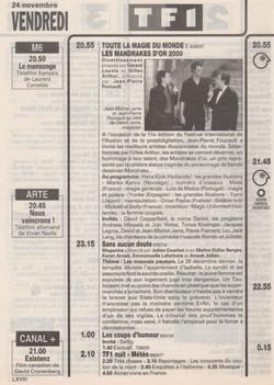 Télé Z novembre 2000