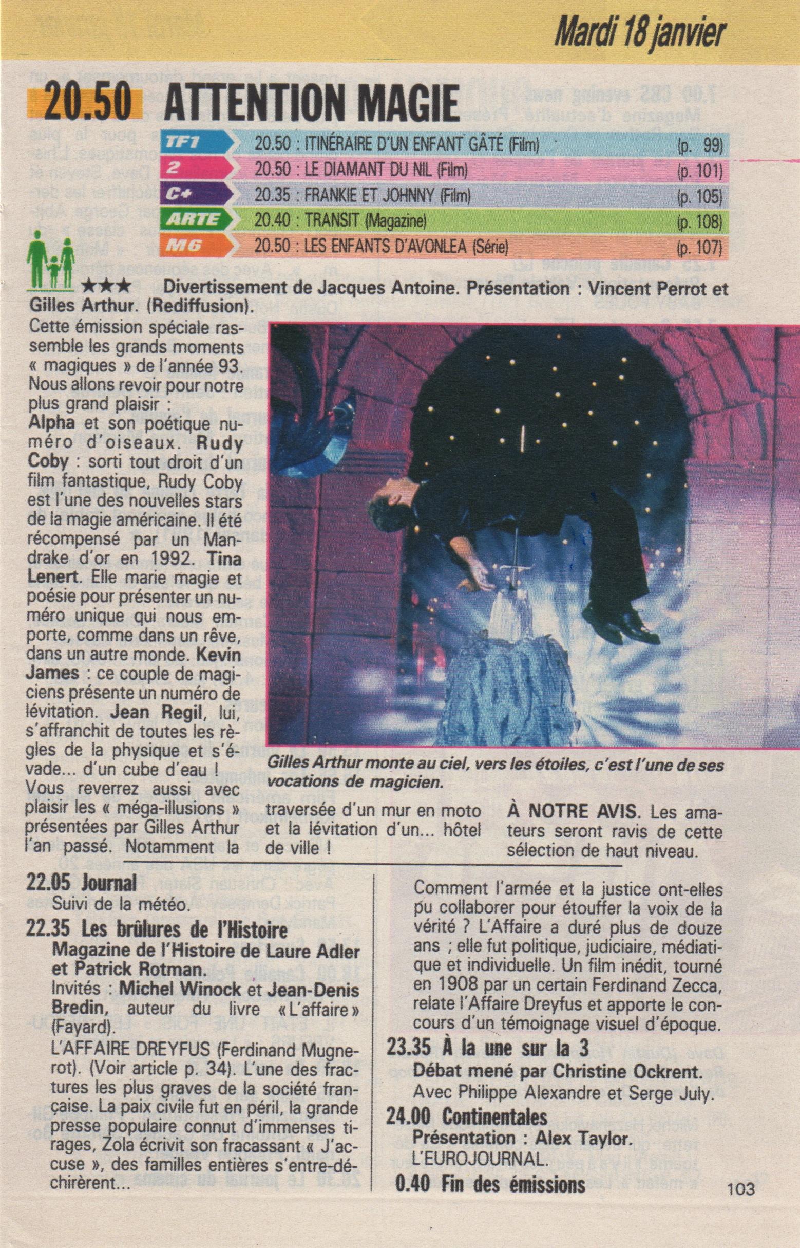 Télé Poche Janvier 1994