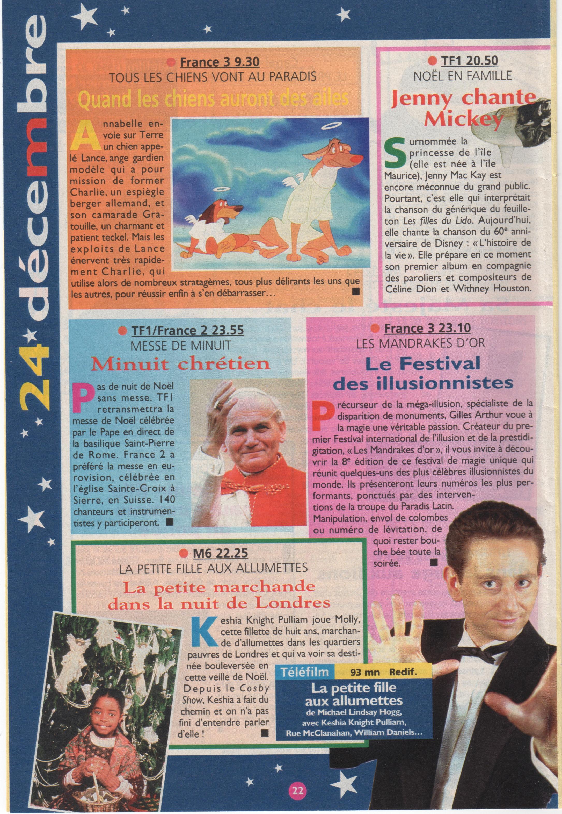 Télé Magazine Decembre 1997