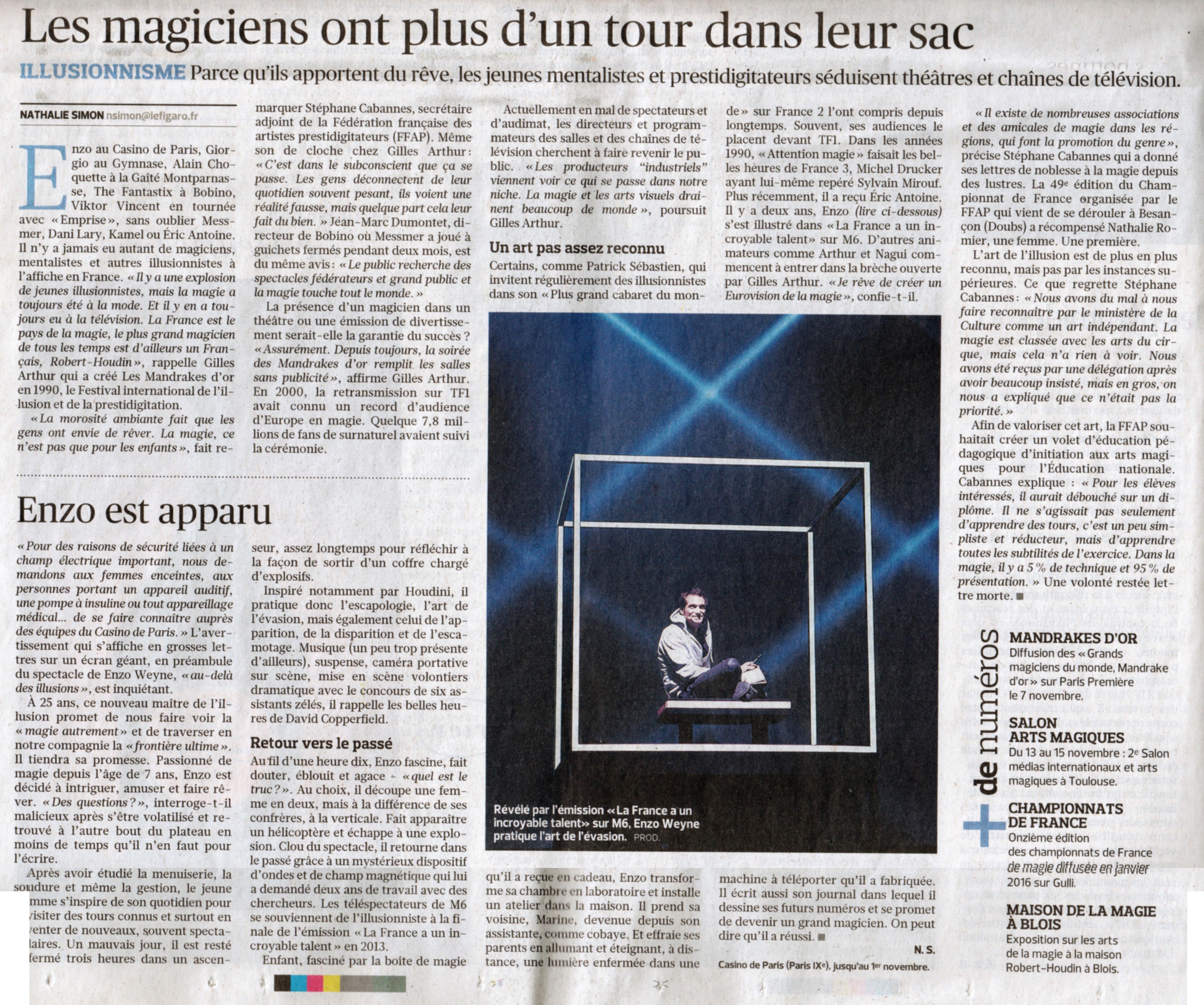 Le Parisien Novembre 2015