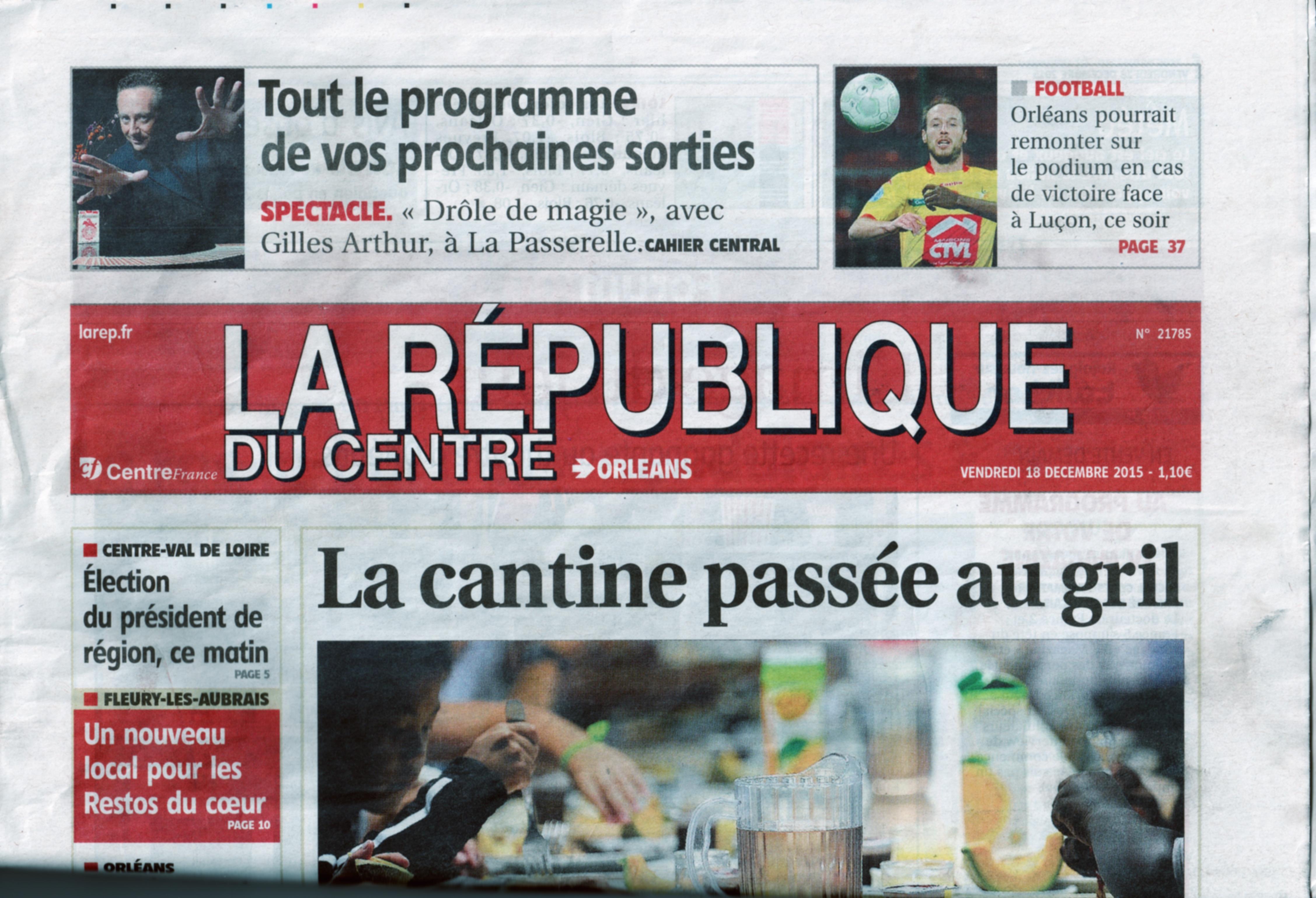 La République du centre Déc 2015