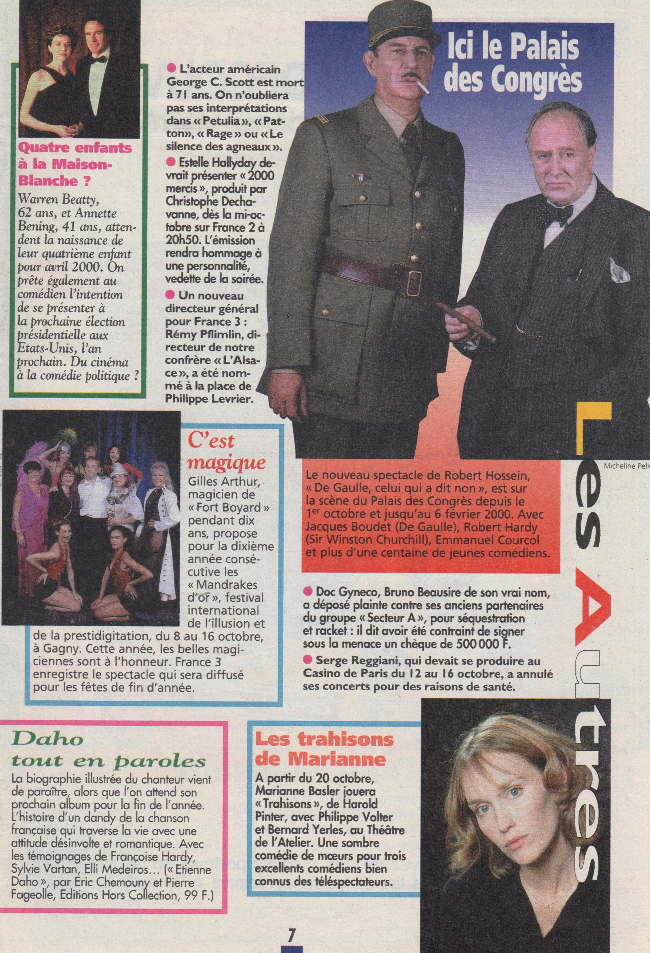 Télé Magazine Octobre 1999