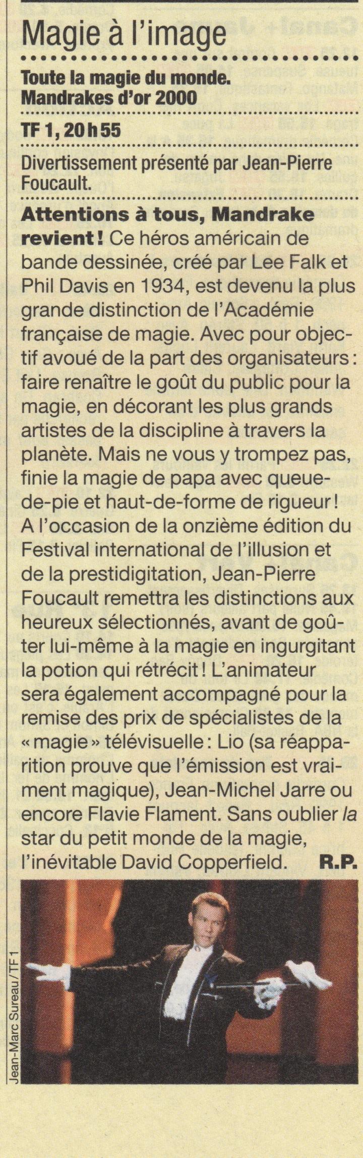 L'évènement France Soir Novembre 2000
