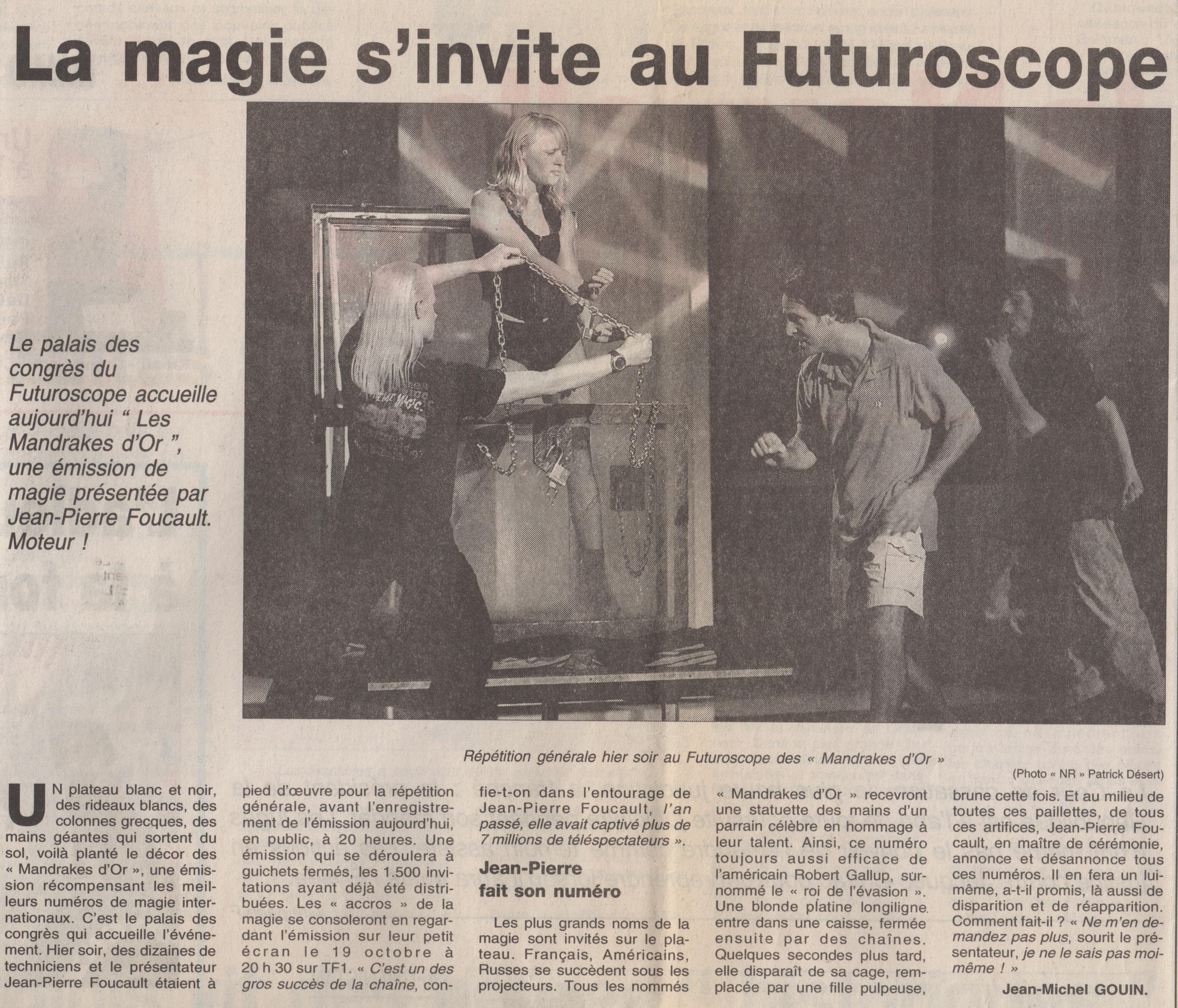 Le Parisien Octobre 2001