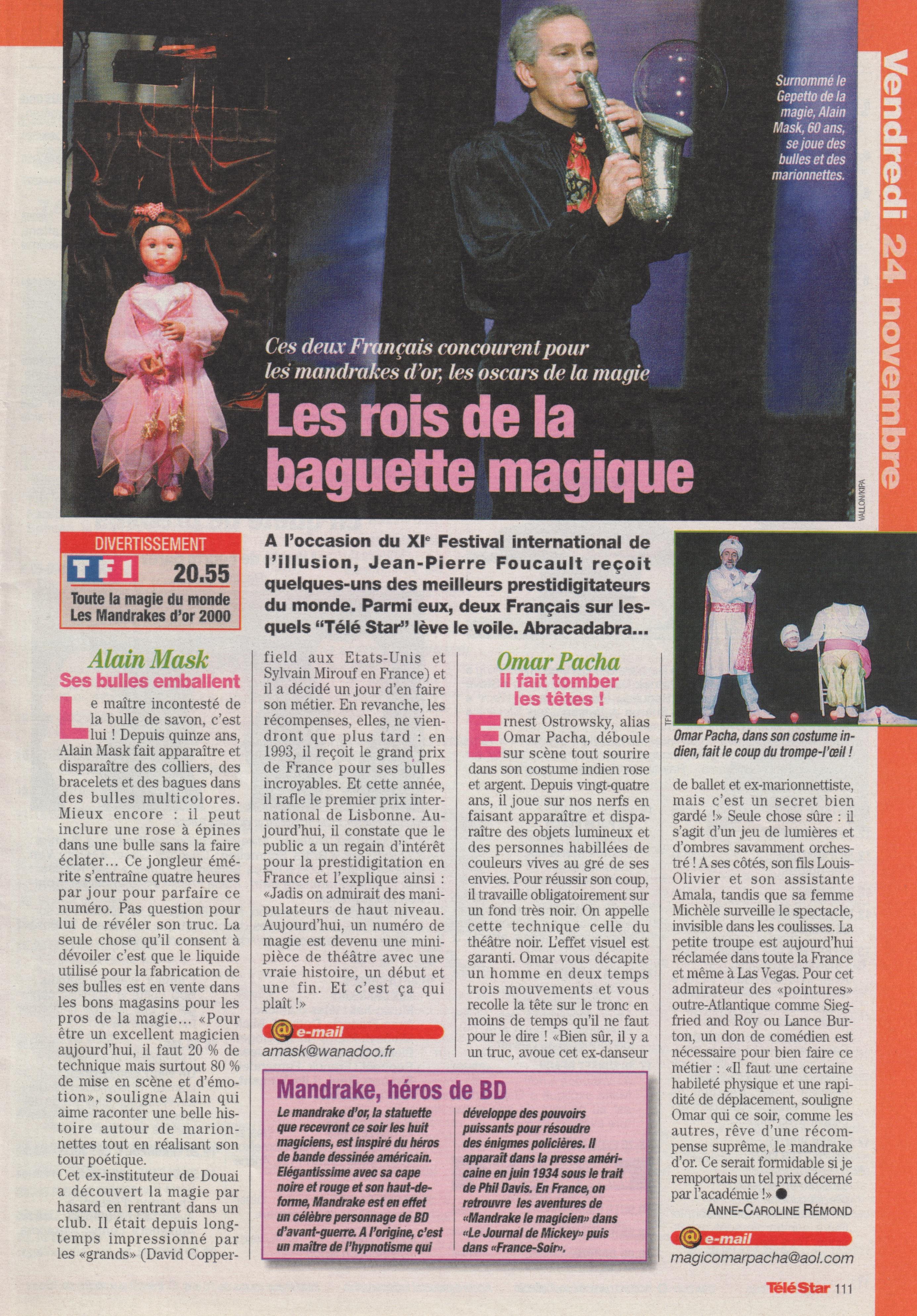 Télé Star Novembre 2000