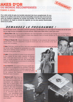 Magazine Octobre 2004
