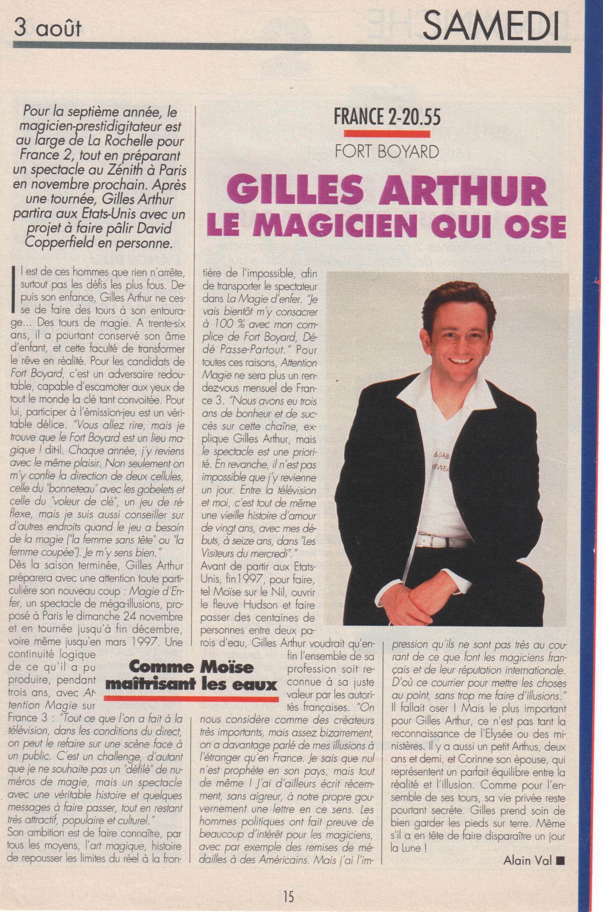 Télé Magazine Aout 1996