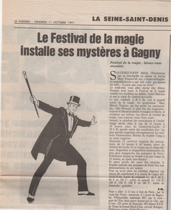 Le Parisien Octobre 1991
