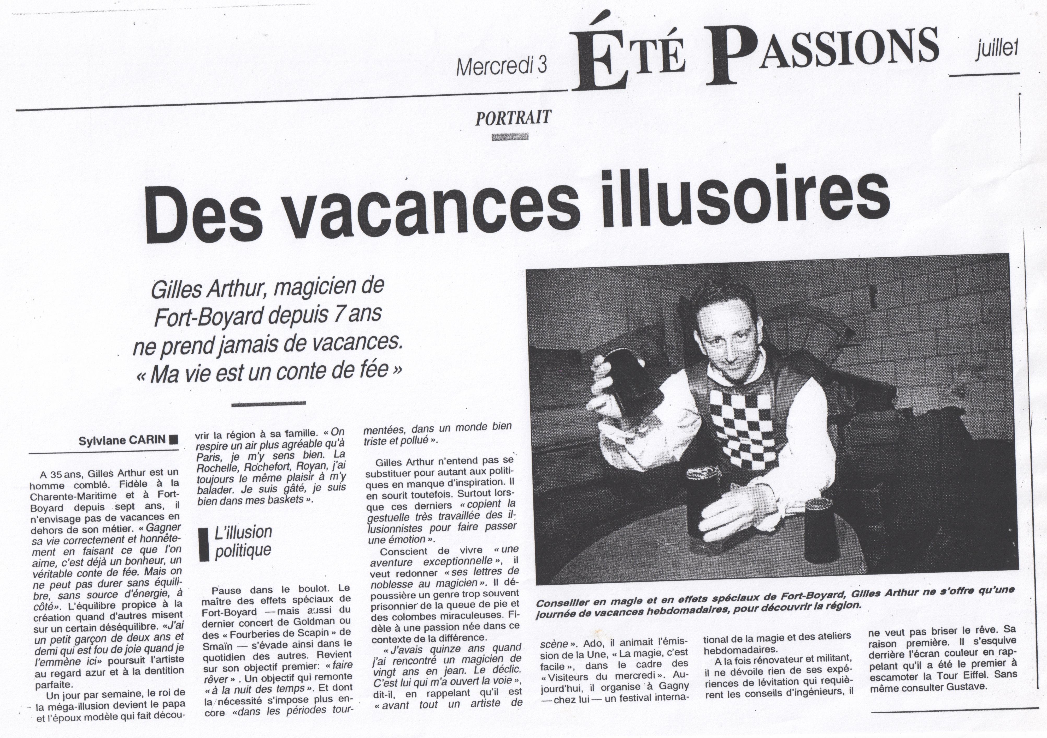 Nice Matin Juillet 1996