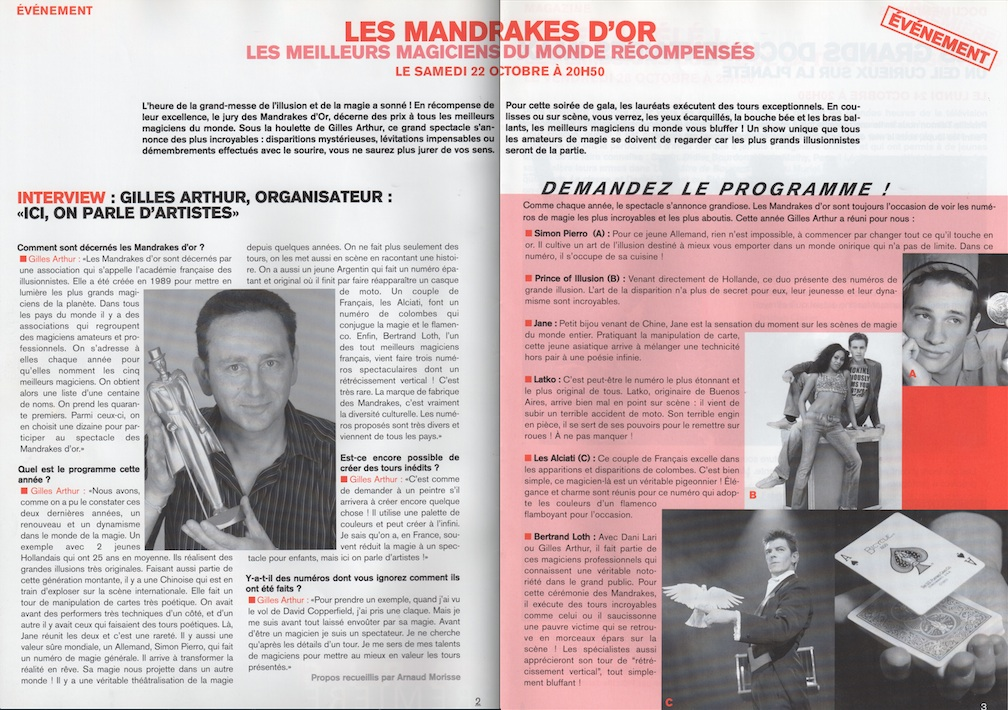 Magazine Octobre 1994